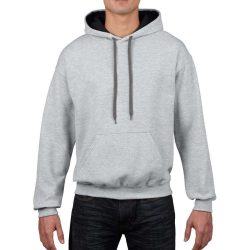 Gildan kapucnis pulóver - szürke/fekete