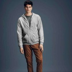 Anvil kapucnis pulóver - világos szürke