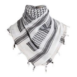 M-Tramp shemagh arab kendő - fehér/fekete