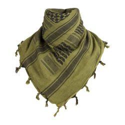 Shemagh arab kendő - zöld/fekete