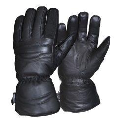Bőr motoros téli kesztyű - fekete S