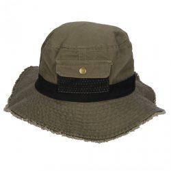 Gyerek boonie kalap - sötétzöld/fekete