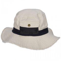 Gyerek boonie kalap - fehér/sötétkék
