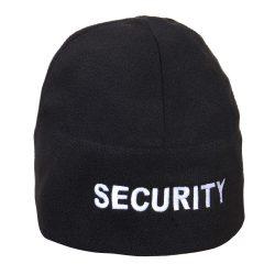 Security polár sapka, fleece polársapka - fekete