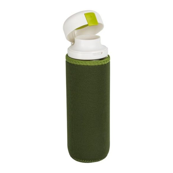 Kulacs neoprén tokkal - zöld