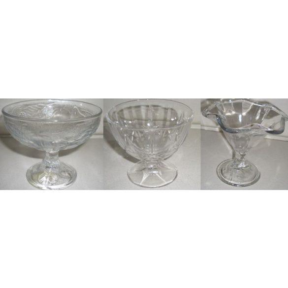 Üvegkehely különböző típ. 3 dl