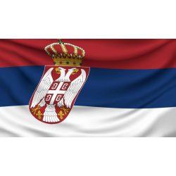Szerbia zászló