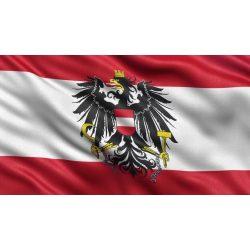 Ausztria címeres zászló