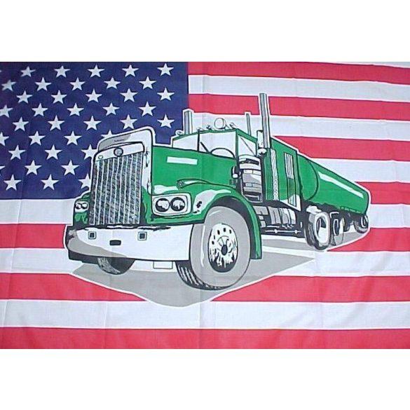USA kamion zászló