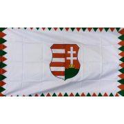Kossuth címeres (farkasfogas) zászló